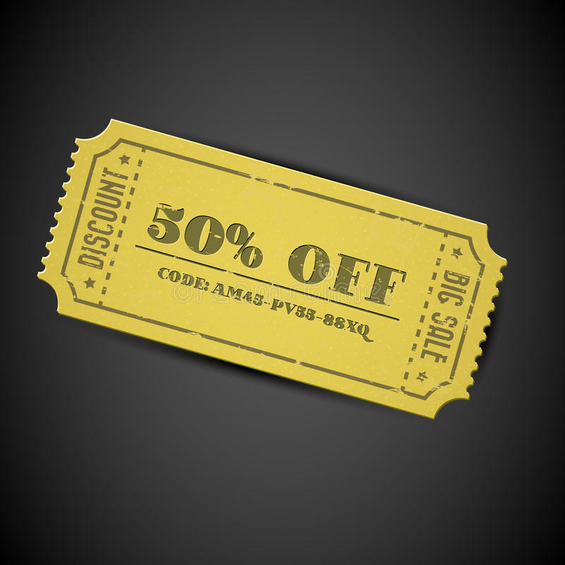 Download Yellow Vector Vintage Sale Coupon Stock Vector - Image: 24130389
