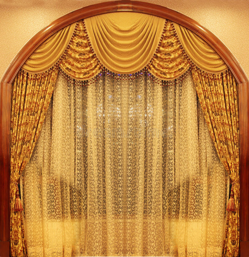 Download Yellow Velvet Theater Curtains Stock Image - Image: 11773927