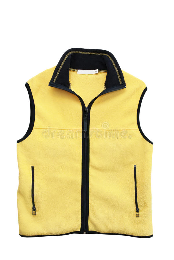 Yellow vest. Isolated on the white background royalty free stock photos