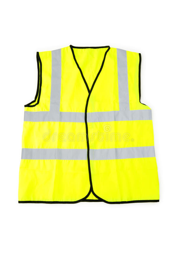 Yellow vest isolated on the white. Background stock image