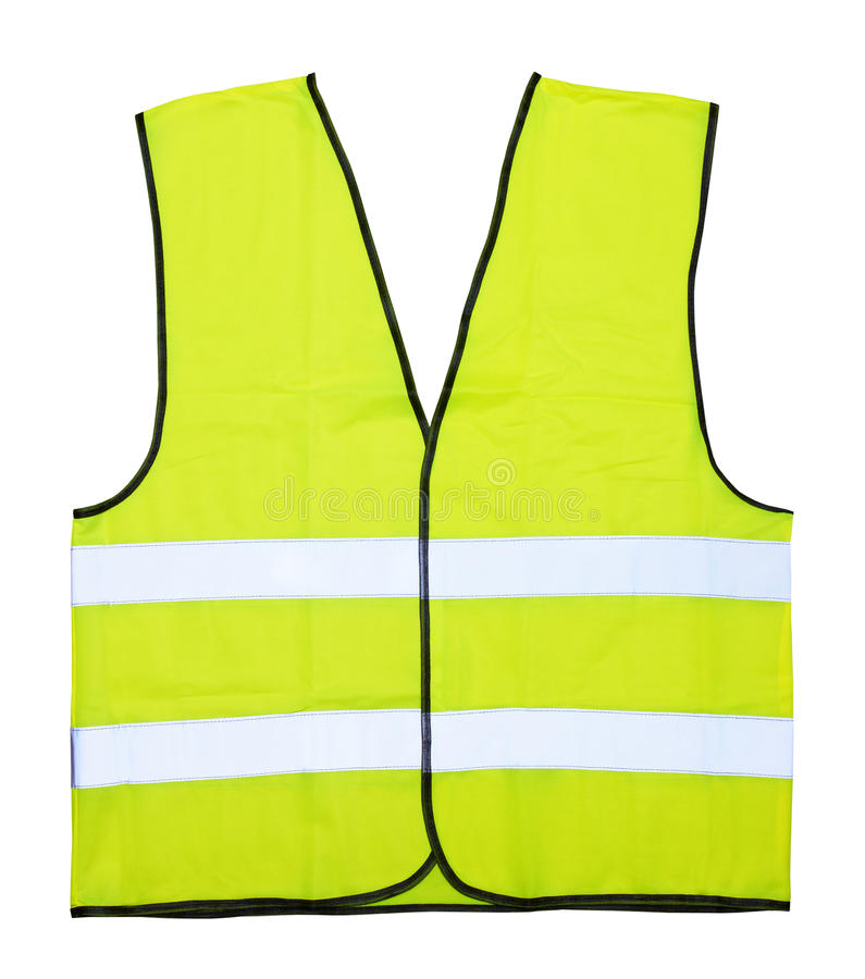 Yellow vest. Isolated on the white background royalty free stock photography