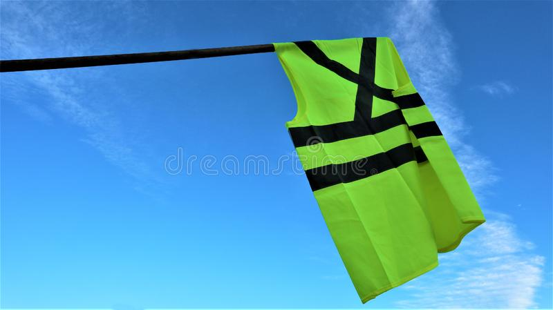 Yellow vests protest against higher fuel prices. Paris, France stock images