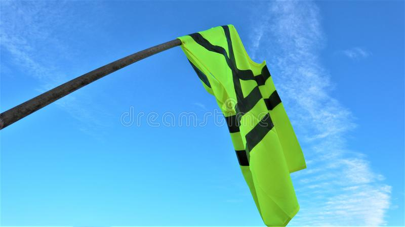 Yellow vests protest . France. Yellow vests protest against higher fuel prices. Paris, France stock photos