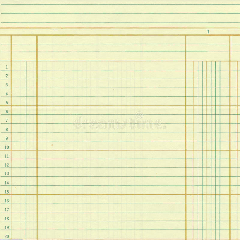 Download Yellow Vintage Ledger Or Graph Paper Numbers Stock Photo - Image: 38145472