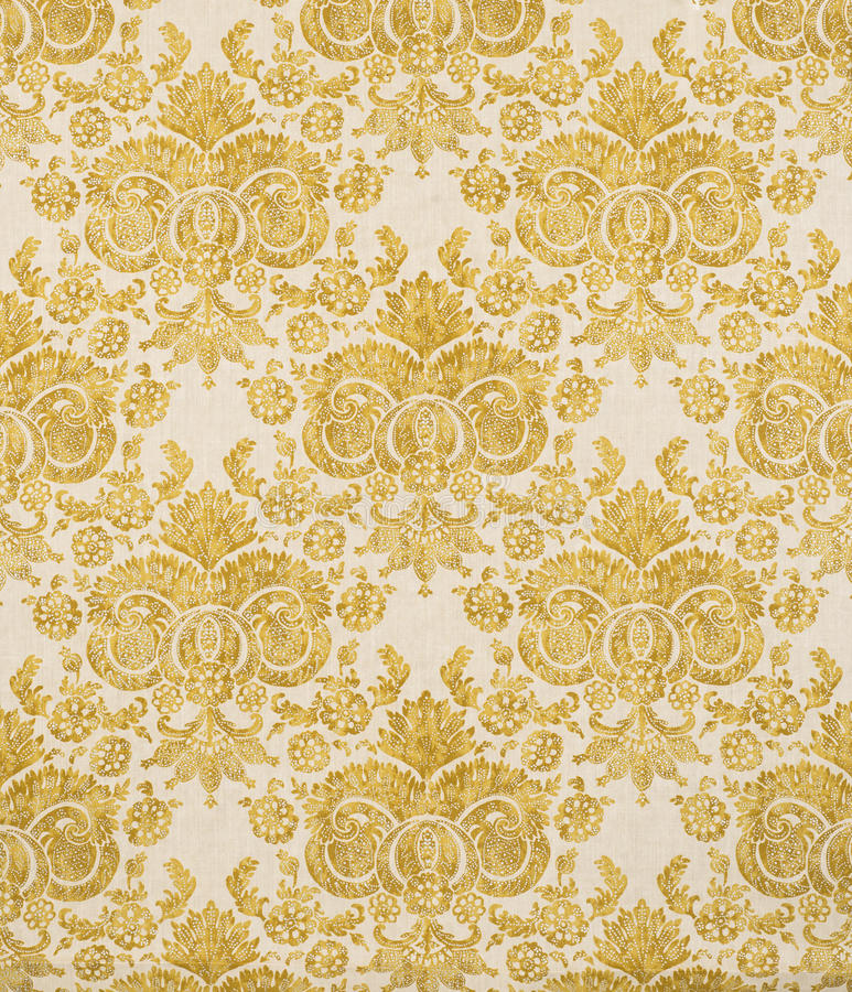 Download Yellow Vintage Pattern Wallpaper Swatch Stock Photo