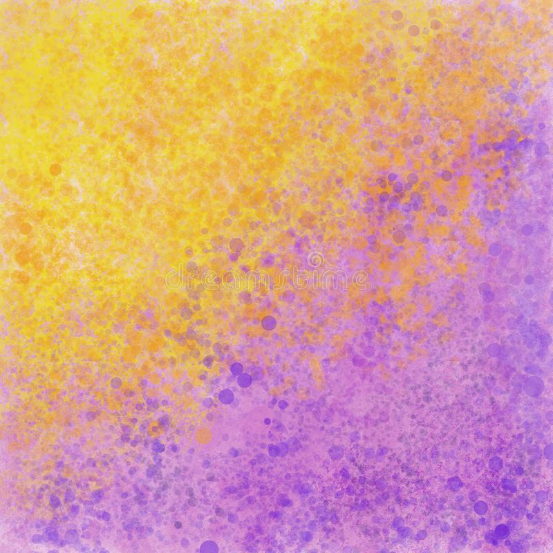 Yellow and violet handmade texture royalty free illustration