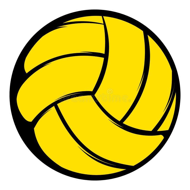 Yellow Volleyball Ball Icon Icon Cartoon Stock Vector