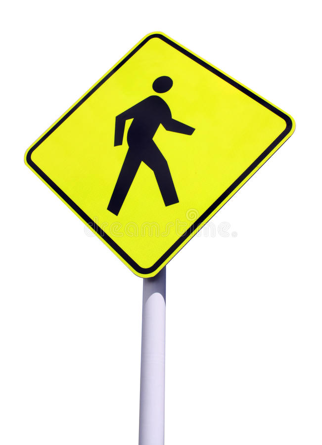 Free Yellow Walking Sign Royalty Free Stock Image - 18632286