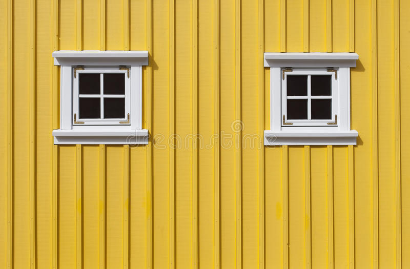 Download Yellow wall stock photo. Image of sunlight, simple, windows - 26187006