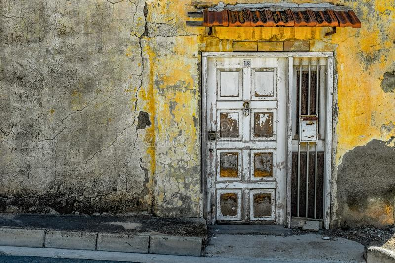 Yellow, Wall, Door, Window stock image