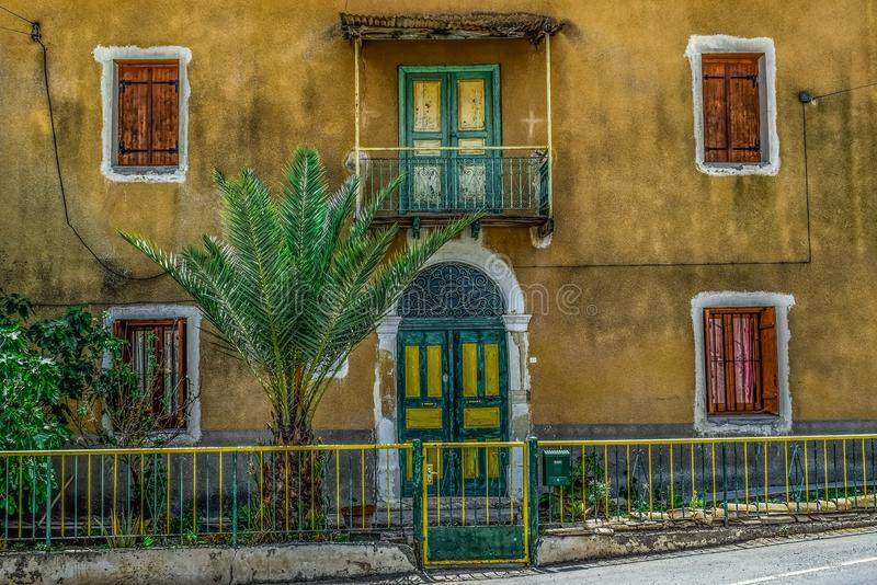 Yellow, Wall, House, Neighbourhood stock image