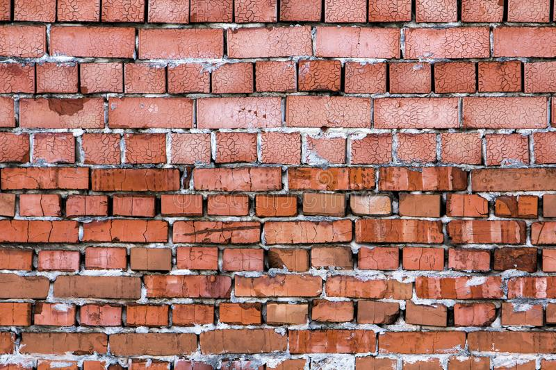 Yellow wall made from bricks for background usage.  royalty free stock image