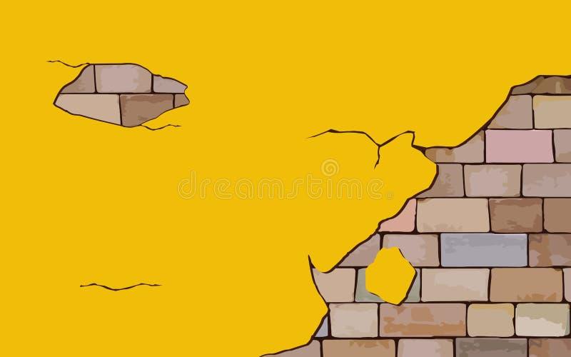 Yellow wall stock image