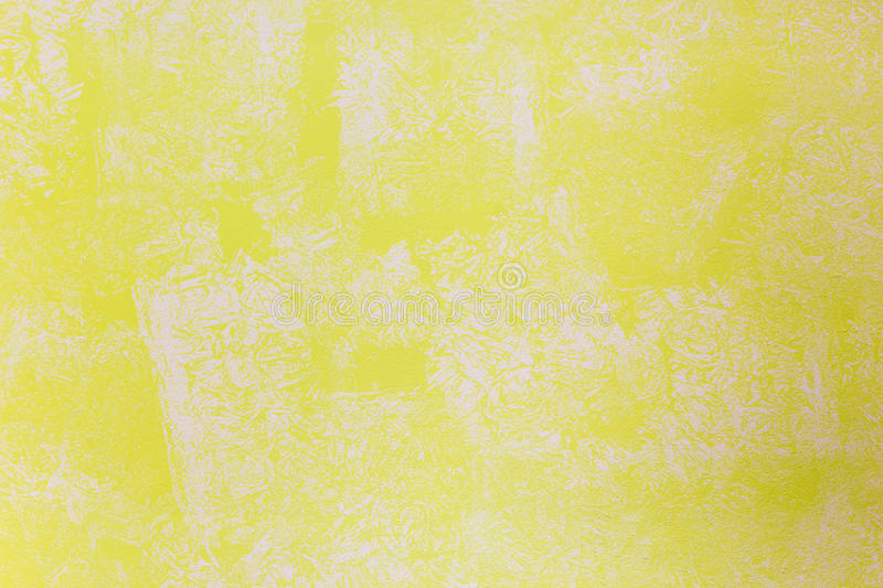 Yellow Wall Painted With Textured Paint Roller Stock Image - Image ...