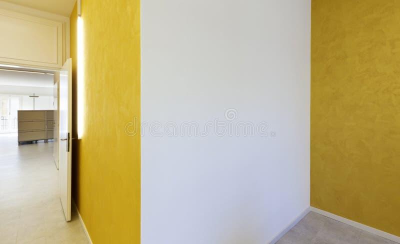 Yellow walls. Modern office interior design, yellow walls stock photo