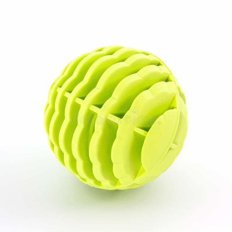 Yellow washing ball, plastic balls royalty free stock image