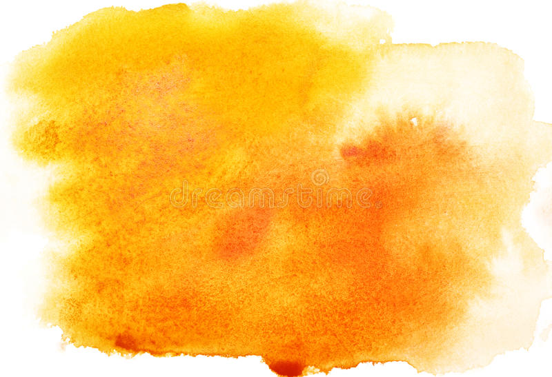 Yellow watercolor background royalty free stock photo