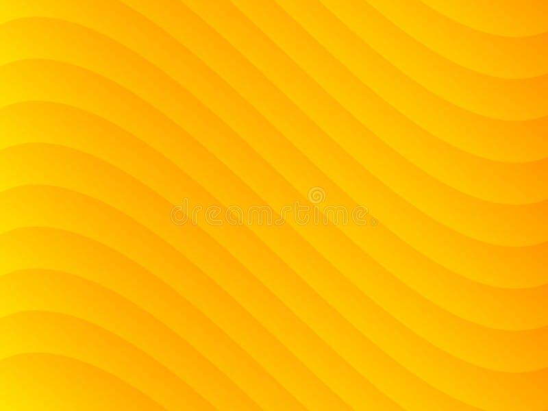 Yellow Wave Background Stock Photos