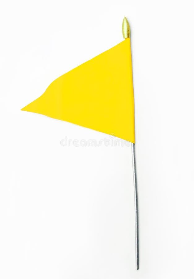 Yellow Wavy Flag stock photos