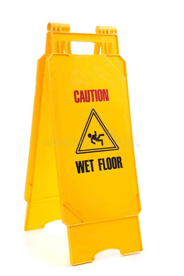 Download Yellow wet floor sign stock photo. Image of janitorial - 10762590