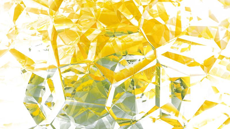 Yellow and White Abstract Crystal Background Beautiful elegant Illustration graphic art design Background. Image vector illustration