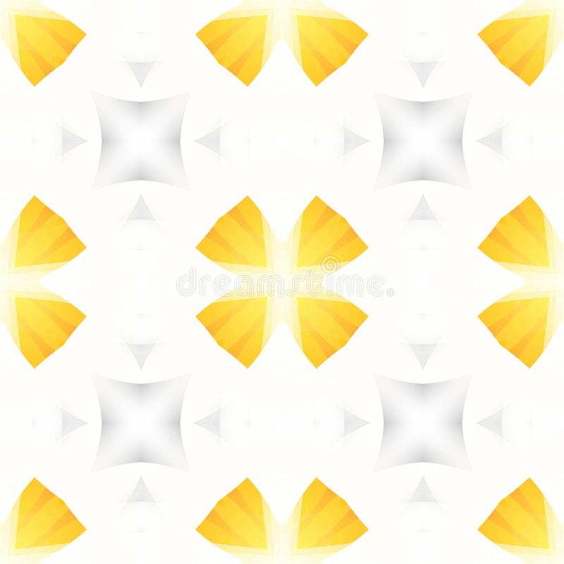 Yellow white grey abstract texture. Simple background illustration. Seamless tile. Textile print pattern. Home decor fabric design vector illustration