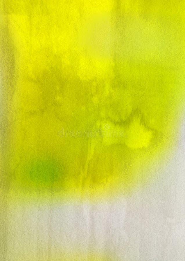 Yellow and White Grunge Watercolour Texture Image stock photo