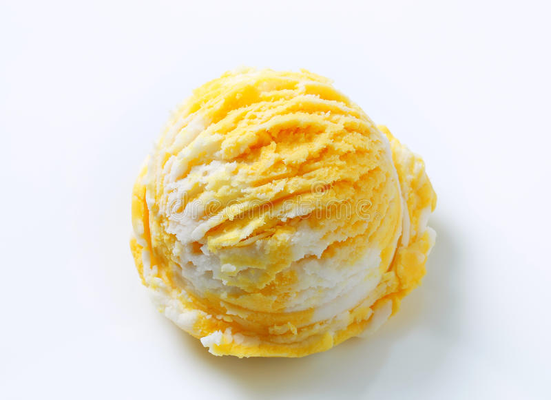 Yellow and white ice cream stock photography
