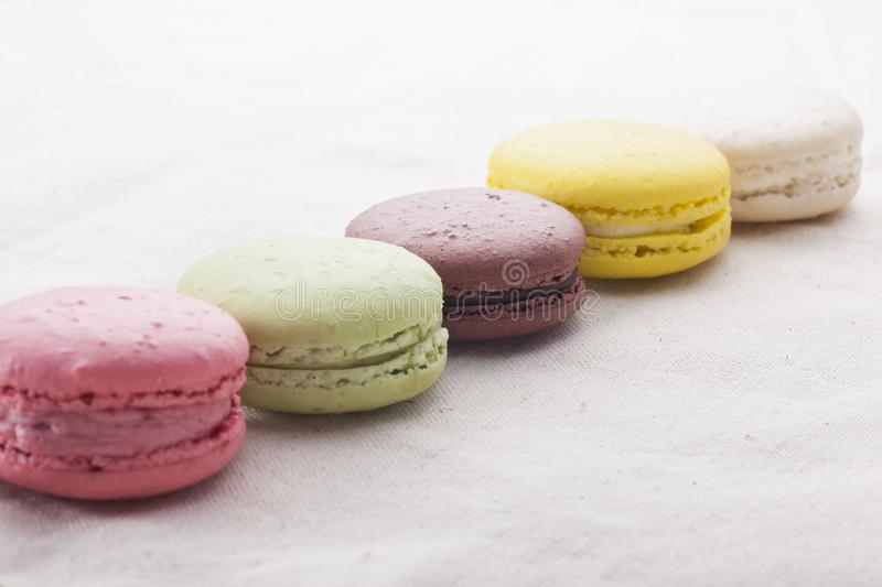 Multi colored macaroons royalty free stock photo
