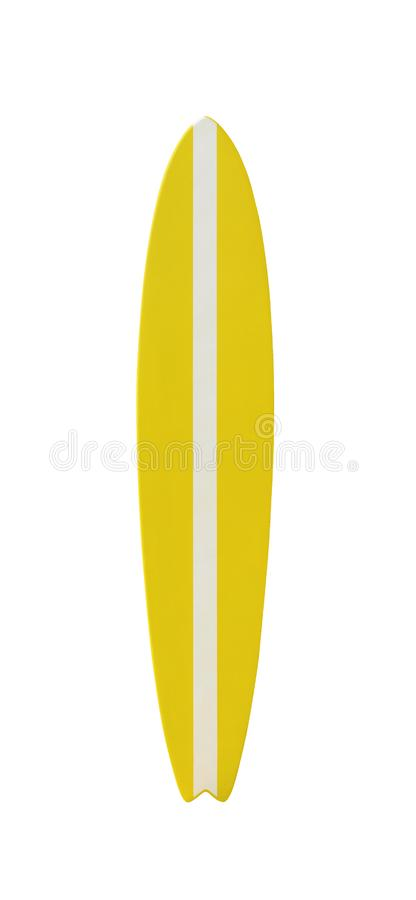 Yellow and white surfboard isolated royalty free stock photos