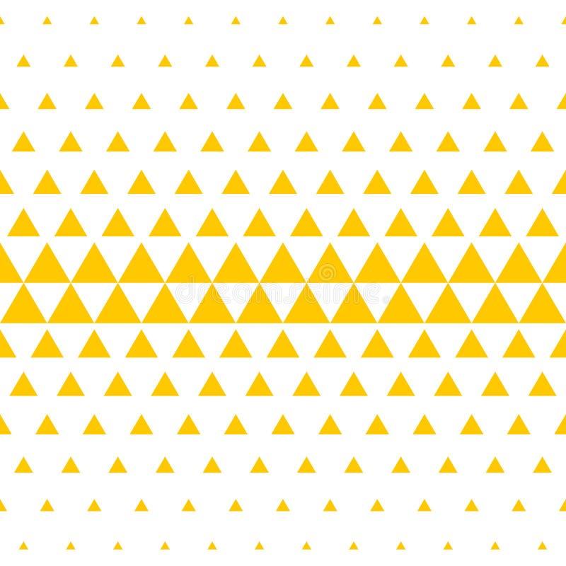Yellow white triangle pattern halftone background royalty free illustration