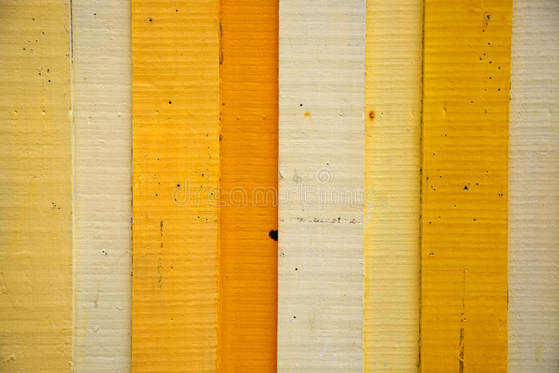 Yellow Wood Background. Painted Yellow Wood Plank Background royalty free stock image