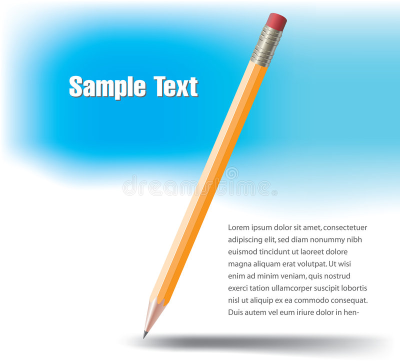 Download Yellow wooden pencil stock vector. Image of implement - 8553037