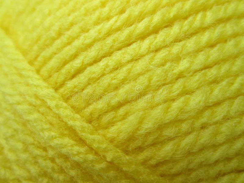 Yellow Wool. royalty free stock photos