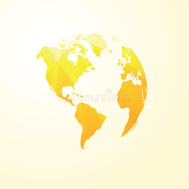 Free Yellow World Map America Transparent Royalty Free Stock Photo - 94453375
