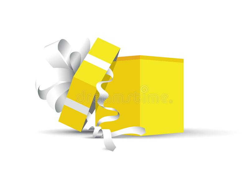 Yellow wrapped present royalty free illustration