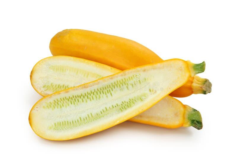 Yellow zucchinis stock image