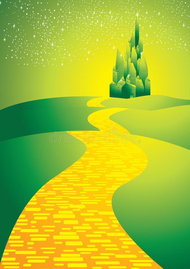 Yellowbrickroad royalty free illustration