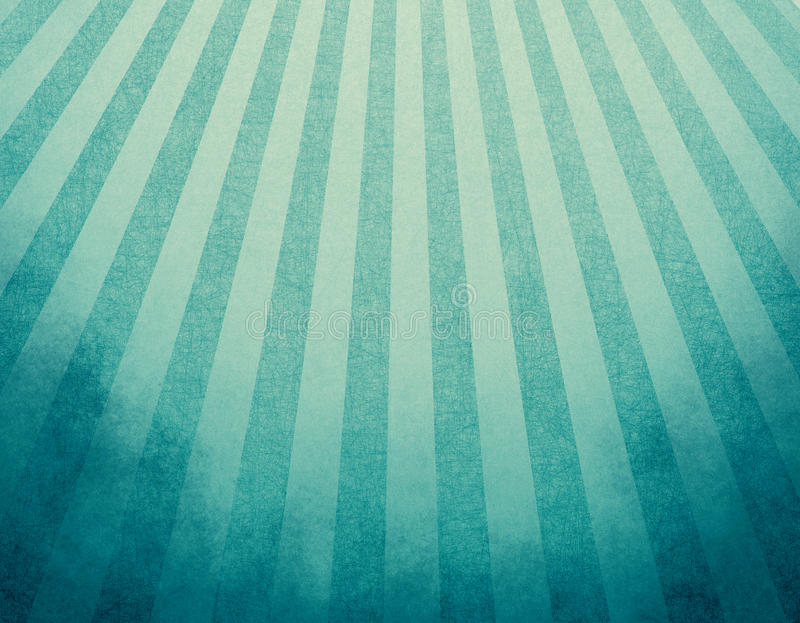 Yellowed blue retro background with faded grunge borders and soft blue and yellow stripes sunburst effect or starburst design. Retro blue background layout