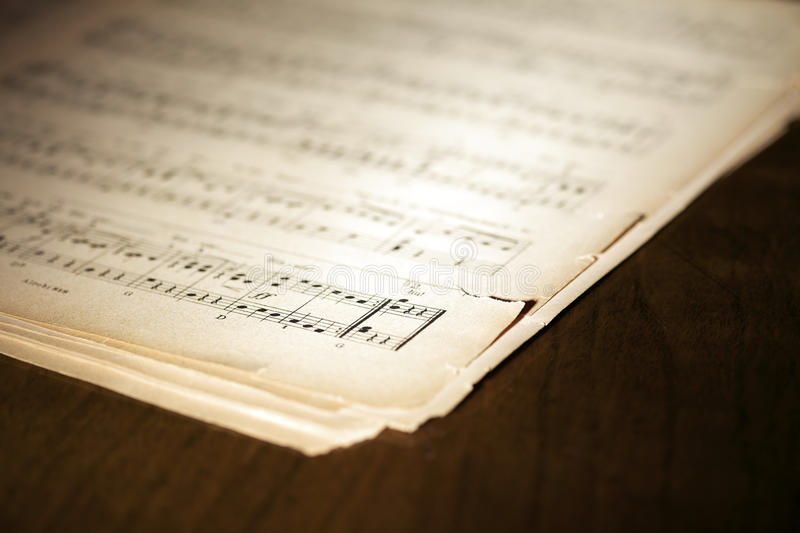 Download Yellowed music book stock image. Image of musical, detail - 13272761