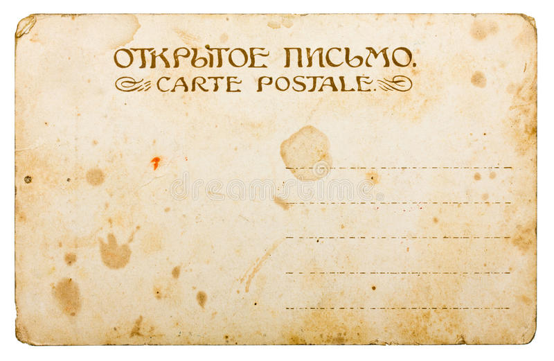 Download Yellowed vintage postcard stock photo. Image of postal - 23881626