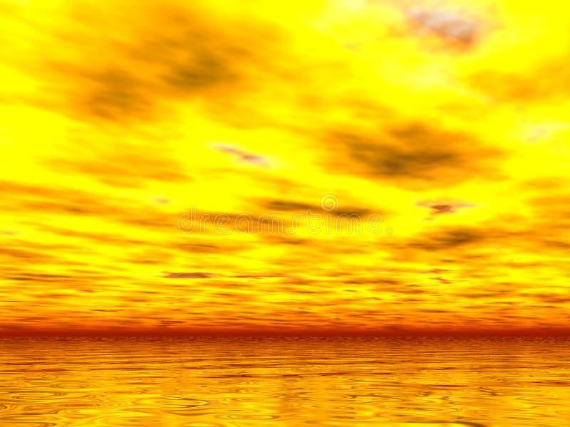 Yellowest的日落 免版税库存照片
