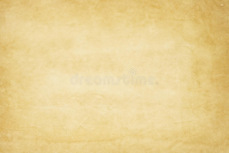 Yellowish old paper texture stock photography