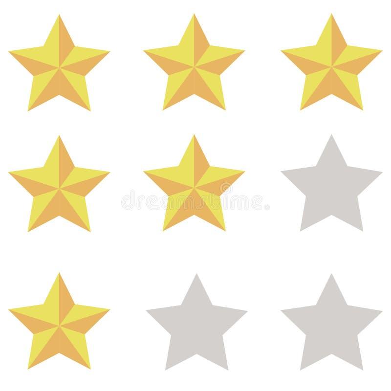 Yellowish pomarańcz gwiazdy z cieniami fotografia royalty free