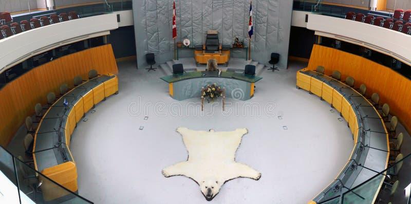 Yellowknife, asamblea territorial, territorios del noroeste, Canadá imágenes de archivo libres de regalías