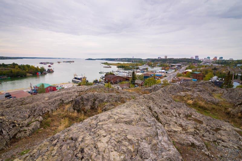 Yellowknife Northwest Territories royaltyfri fotografi