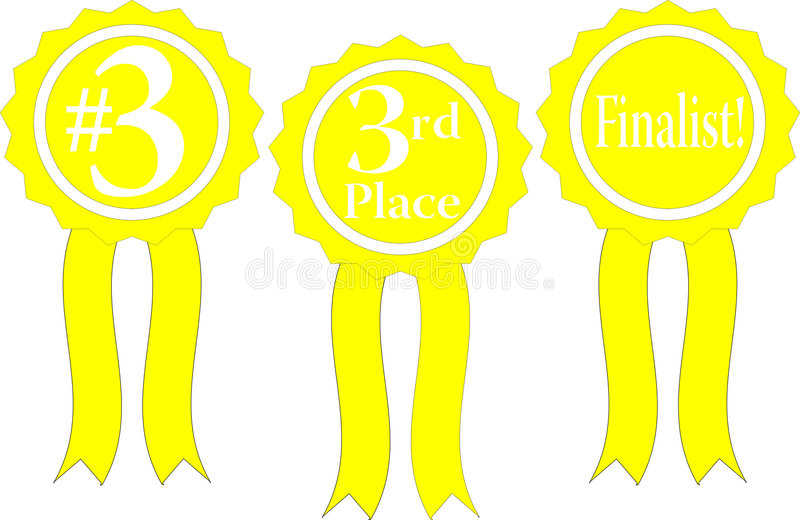 Download Yellowribbon stock vector. Illustration of best, achievement - 7648662