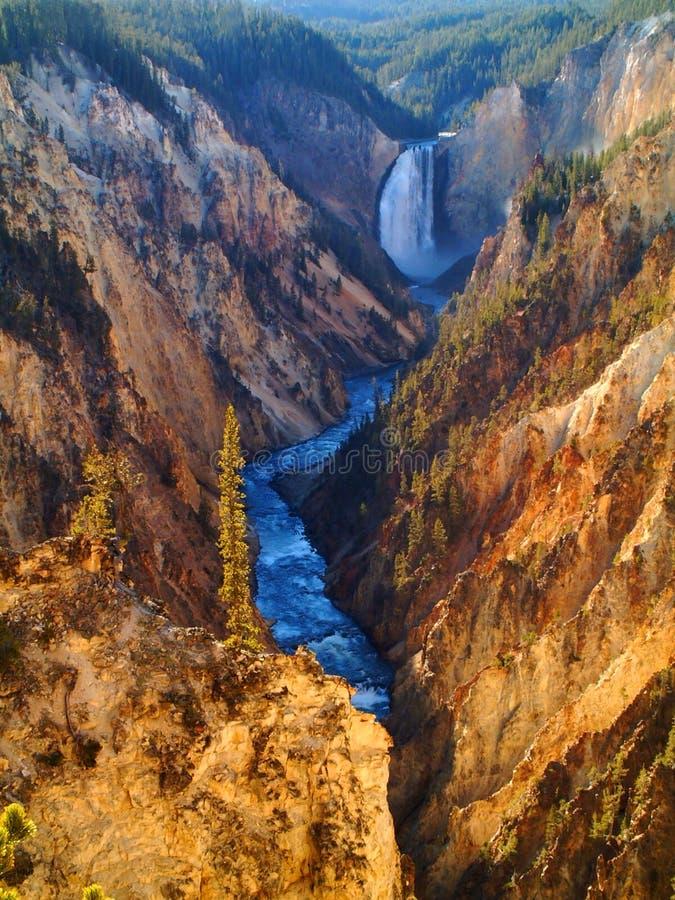 Yellowstone abbassa le cadute fotografie stock
