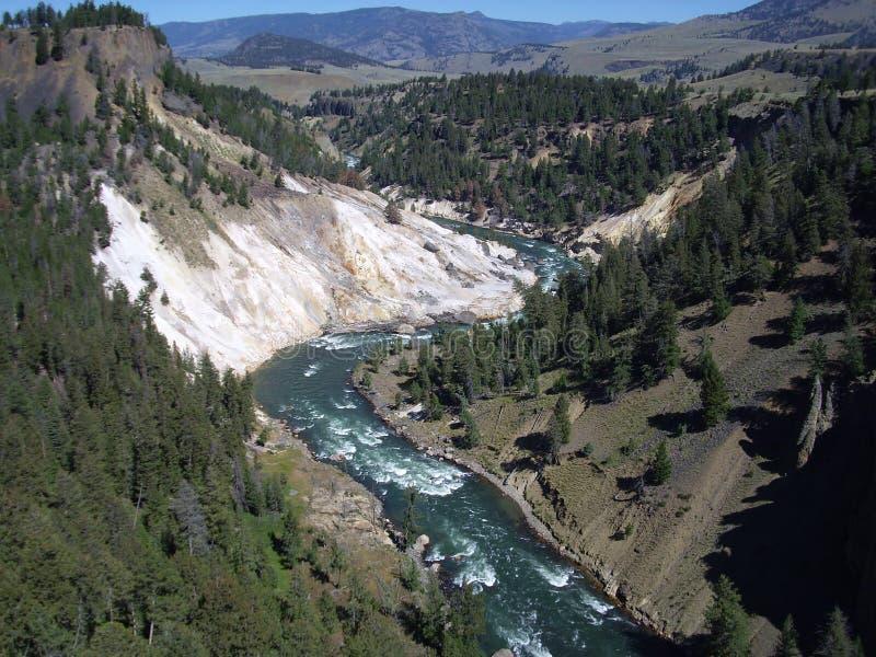 Yellowstone canyon stock photo