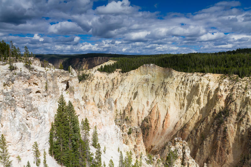 Yellowstone Canyon as seen from the Grand View lookout stock photo